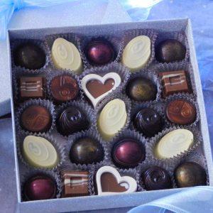 zimní edice čokoládových pralinek